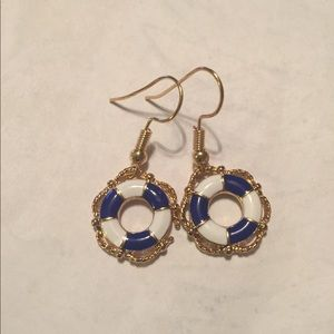 Life preserver Drop Earrings